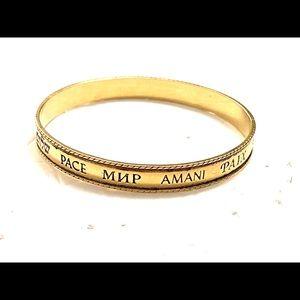 PEACE Bracelet AVON gold
